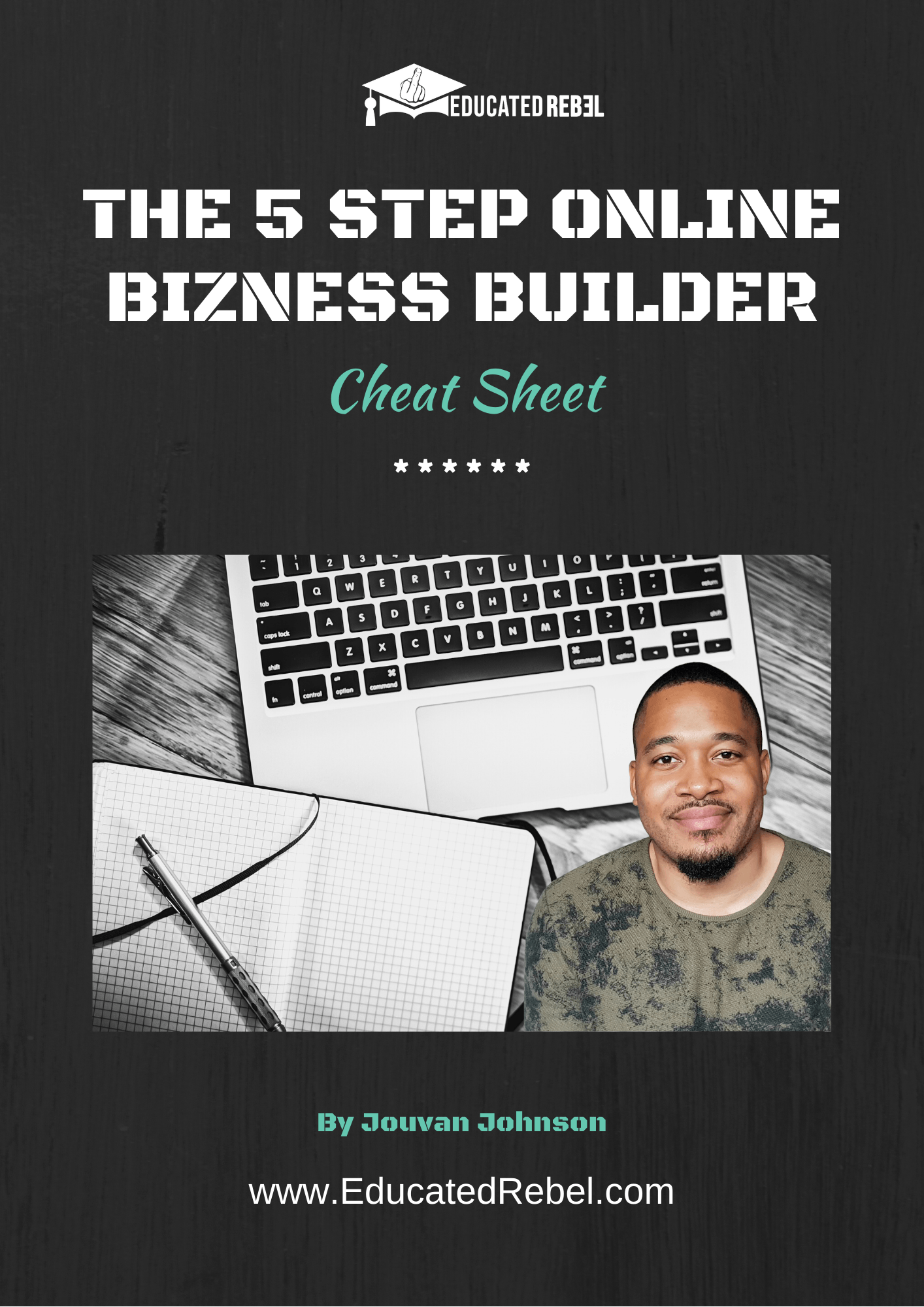 The 5 Step Online Bizness Builder Cheat Sheet cover image